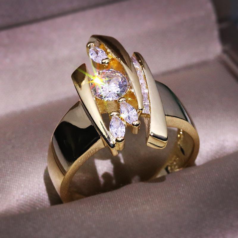 Творческий простой Рейнстоун Палец Кольцо 1pc женщин мода Свадебные украшения фото