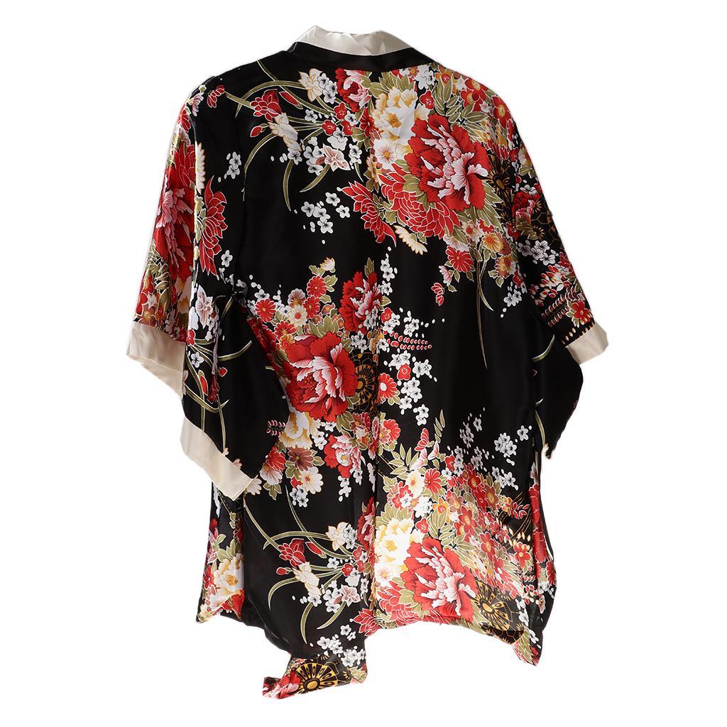 Sakura  Imprimé Kimono Japonais Costume Lingerie Waistband Thong Set