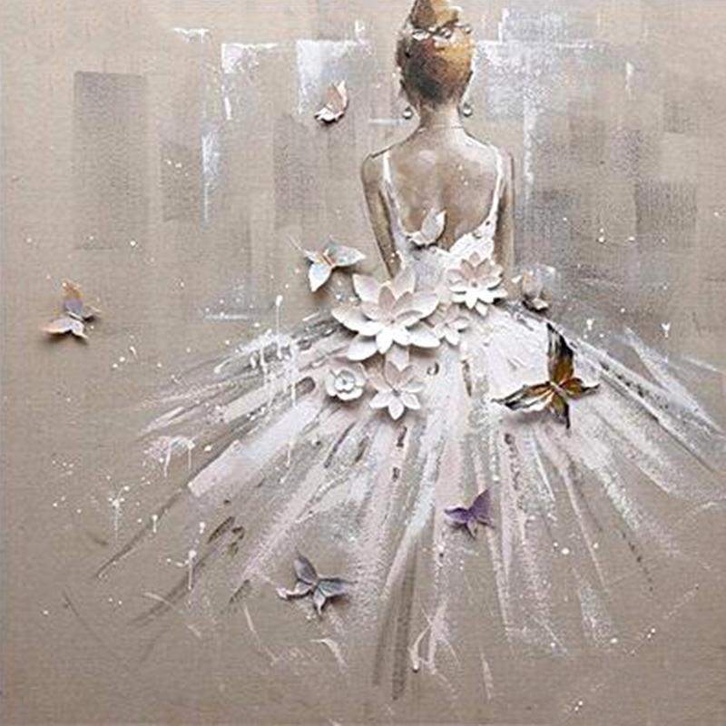 Ballerina Abstract Diamond Painting Beautiful Design House Decoration Embroidery