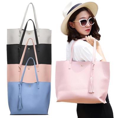 cdb79126619 Women Single-shoulder Bag Large Capacity Ladies Bag With Tassel Decoration  Tote Bag