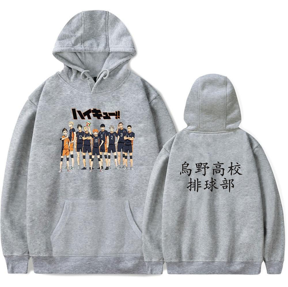 KARASUNO Mens Womens Casual Hoodie Sweatshirt Pullover Jumper Anime Haikyuu!