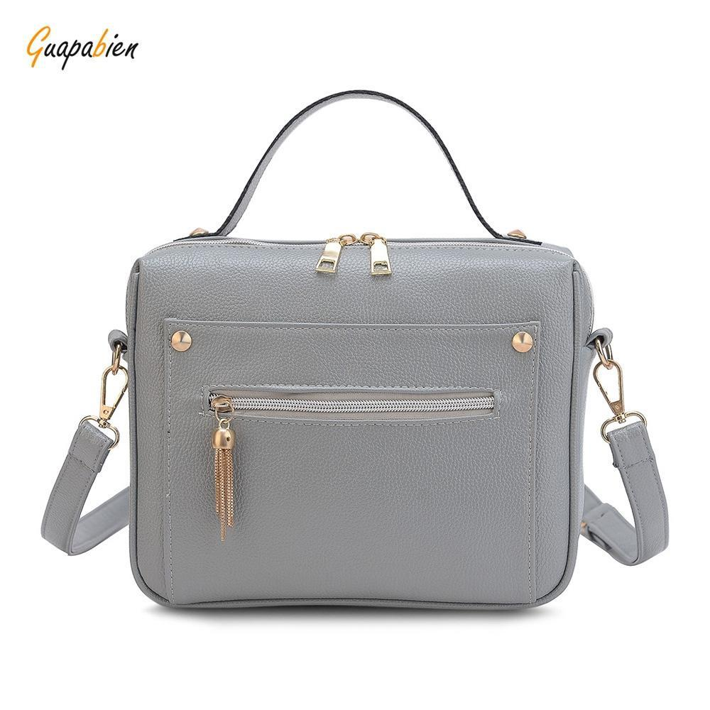 1be21346d0 Handbag women shoulder bag guapabien stylish tassel chain angular