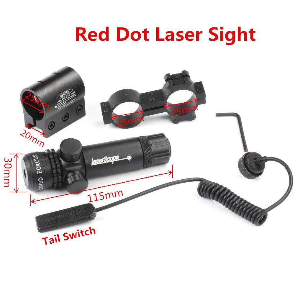 Taktische Red Laser Sight Picatinny Schiene montieren 20 mm ...