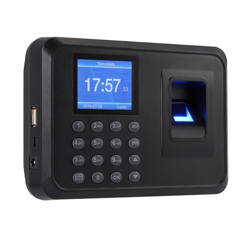 "2.4 /"" TFT Fingerprint Recorder Attendance Machine Time Clock Card Door Control"