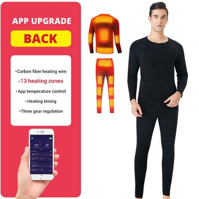 Men's Thermal Underwear USB Heating 13 Zones Can Be Controlled By Bluetooth