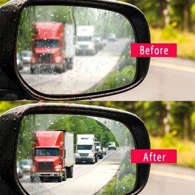 4c70b4c5765f Price  6. 2Pcs Universal Rainproof Car Rearview Mirror Stickers Clear  Protection Nano Safety ...