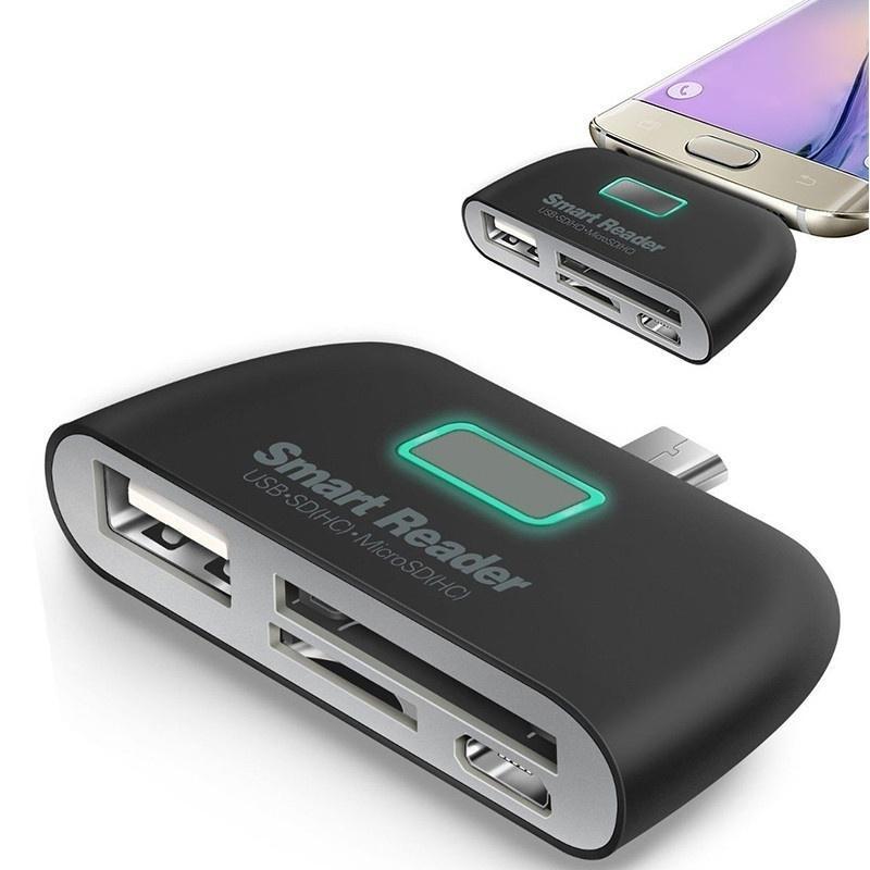 Jardin Smart Residence Malang: 4 En 1 SD/TF/OTG Smart Card Reader Adaptateur Micro Charge