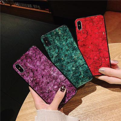Luxury Marble Pattern Tempered Glass Back Soft TPU Frame Phone Case For iPhone 13 12 Samsung A32 Huawei Y6p Xiaomi M3 X3