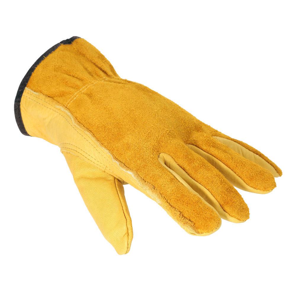 excavaci/ón antideslizantes Guantes de trabajo de piel de vaca para jardiner/ía plantaci/ón guantes protectores de seguridad guantes de trabajo con flores