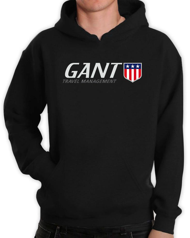 22c319a8f03 Insignia escudo de Gant para hombre con capucha algodón impreso Tops ...