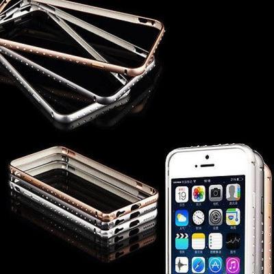 Diamond case cover thin metal aluminum bumper frame shining jewelry case cover for iphone 6 air