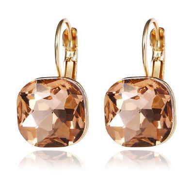Engagement Simple Crystal Rhinestone Dangle Earrings For Women Shiny Earrings Female Jewelry