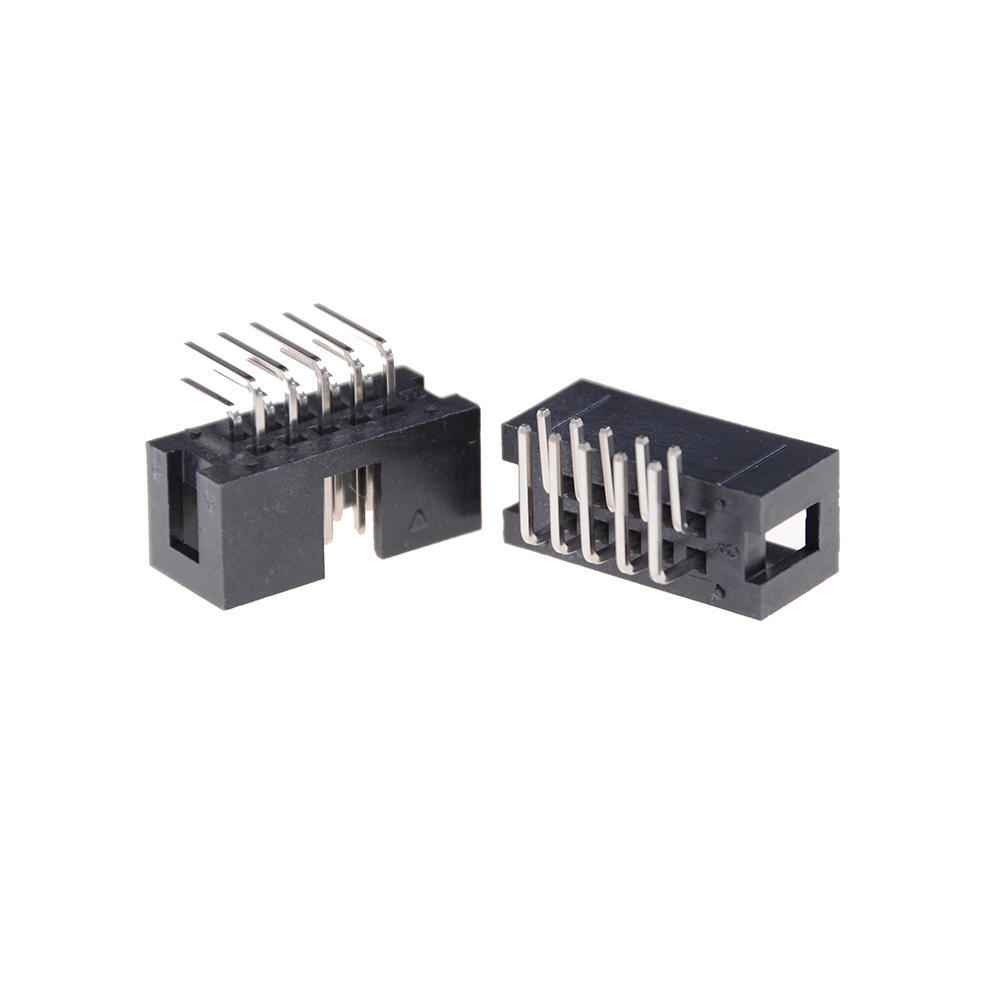 10pcs Dc3 10p 254mm 2x5 Pin Right Angle Male Shrouded Header Idc Socket Ic 8 Or 2x4 1 Of 6