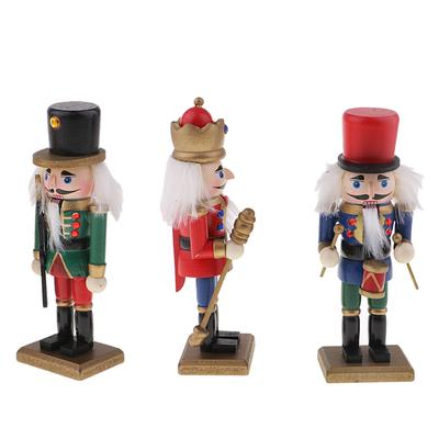 Traditional Soldier Nutcracker Collectible Wooden Christmas Nutcracker Wooden Nutcracker Rocking Horse Puppet Soldier Wooden Crafts Ornaments Nutcracker Decoration 36CM Festive Holiday Decor