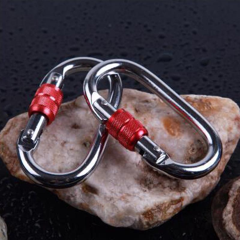 Universal Master Lock D-Ring Mousqueton Porte-clés Clip Escalade Sécurité