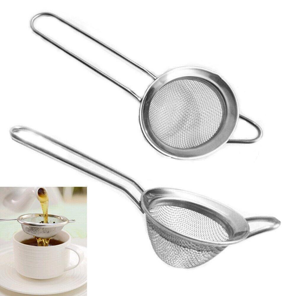 Tea Strainer Mesh Infuser Loose Leaf Kitchen Filter Sieve Traditional Steel Herb