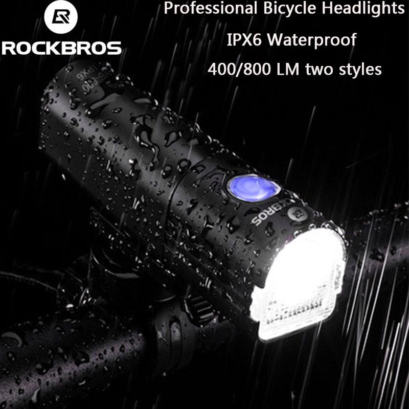 RockBros 800 Lumen USB Rechargeable Bicycle Head Front Light LED Flashlight Lamp
