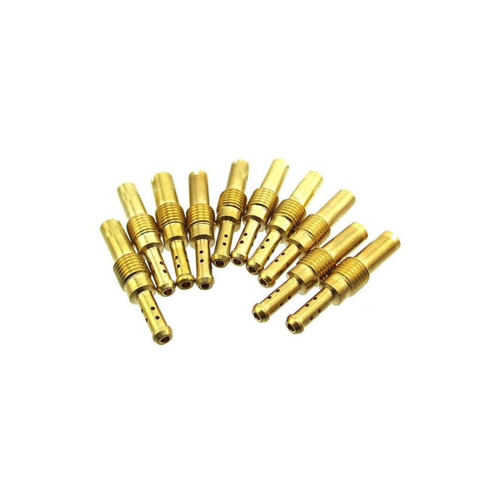 STONEDER carburatore Pilot Slow Jets #15 17.5 20 22.5 25 30 32.5 35 37.5 40 per Mikuni Carb VM28//486 HS40 HSR42 HSR45 HSR48 RS34 RS36 RS38 RS40 TM33-8012 TM36-68 TM40-6 con Pompa acceleratore