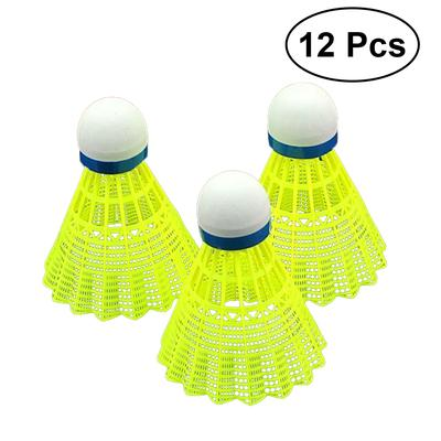 12PCS Plastic White Shuttlecock Badminton Foam Ball Leisure Outdoor Sport Games