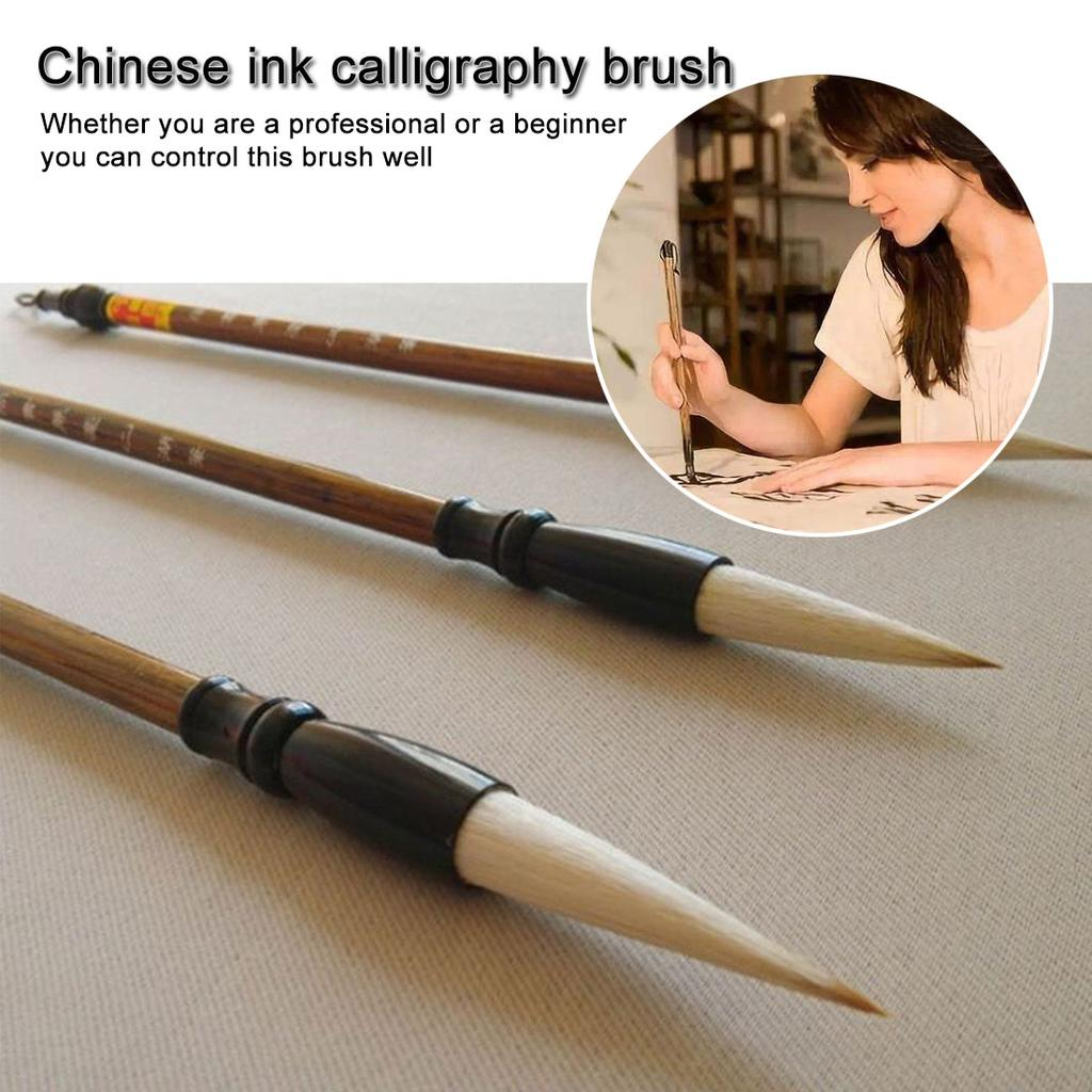 3pcs//set Excellent Quality Chinese Calligraphy Brushes Pen For Writing Brush H5