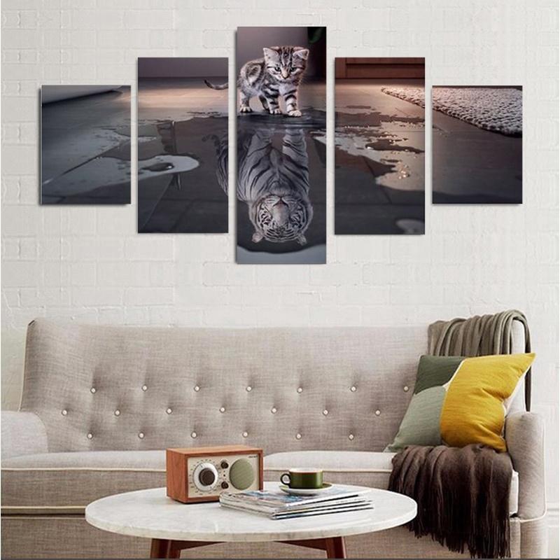 5pcs de lona de pintura de arte imagen pared grande sin marco ...