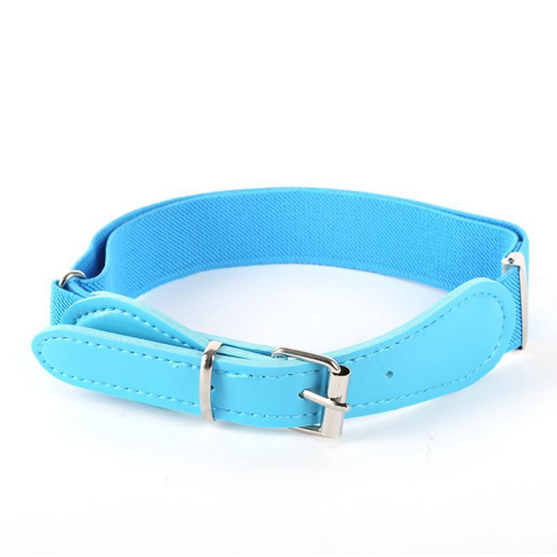 Toddler Boy Girl Adjustable Belt PU Leather Elastic Waistband