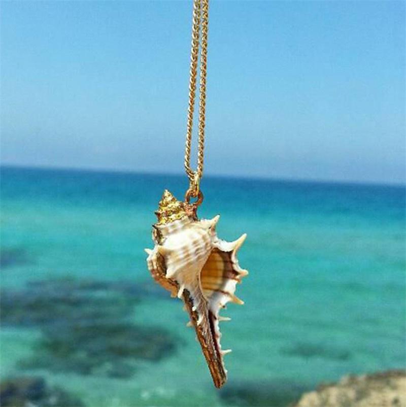 1 Stück Strand Meer Ozean Muschel Anhänger Halskette natürlichen Schale Kragen Halskette Schmuck für Frauen