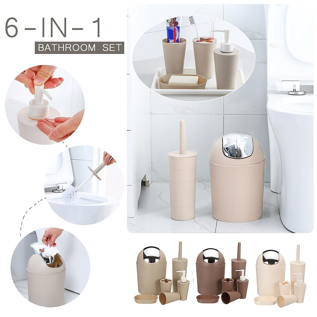 6pcs In 1 European Style Bathroom, Pea Bathroom Accessories