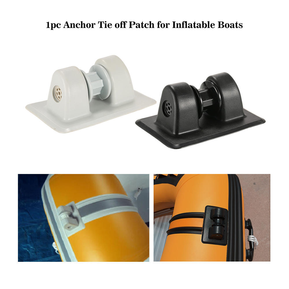 Gray PVC Anchor Tie Off Patch Anchor Holder Row Roller for Inflatable Boats