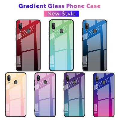 53a1f862646 Vidrio templado duro de la moda degradado funda protectora trasera para  Samsung Galaxy teléfono Shell