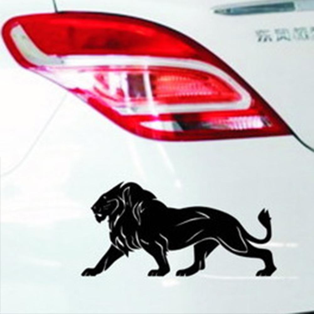 2PCS Flame Lion Car Sticker Window Motorcycle Vinyl Truck Door Bumper Wall Decal