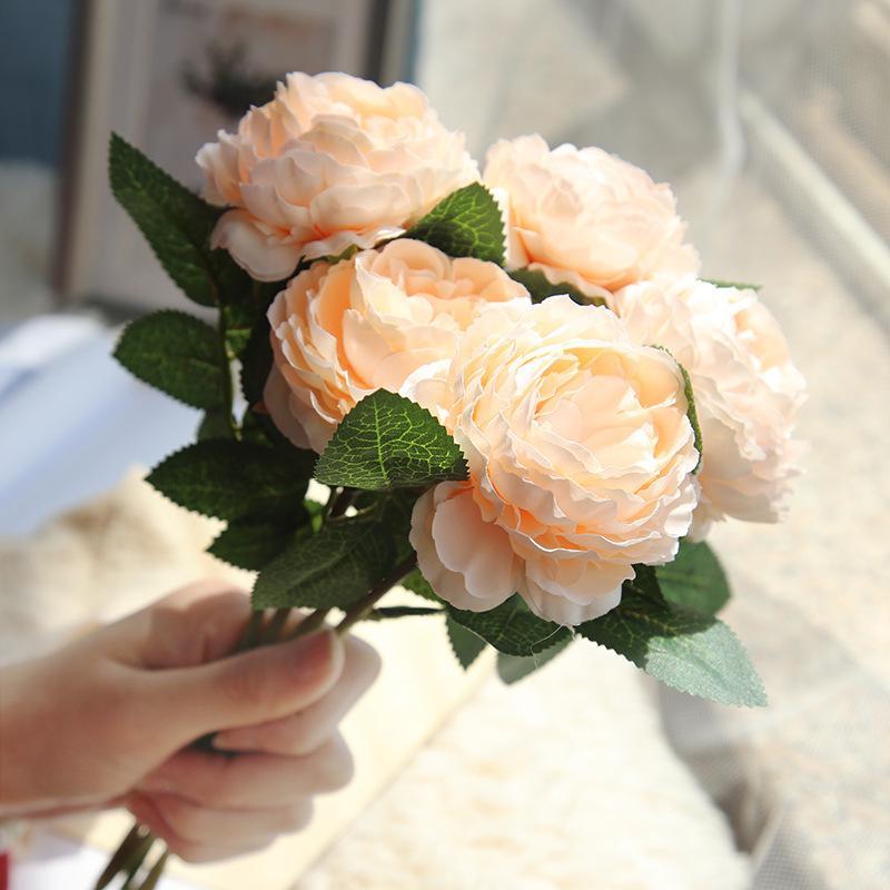 Очарование партии осень искусственного поддельные номер пион цветок дома шелка моды украшения букет – купить по низким ценам в интернет-магазине Joom