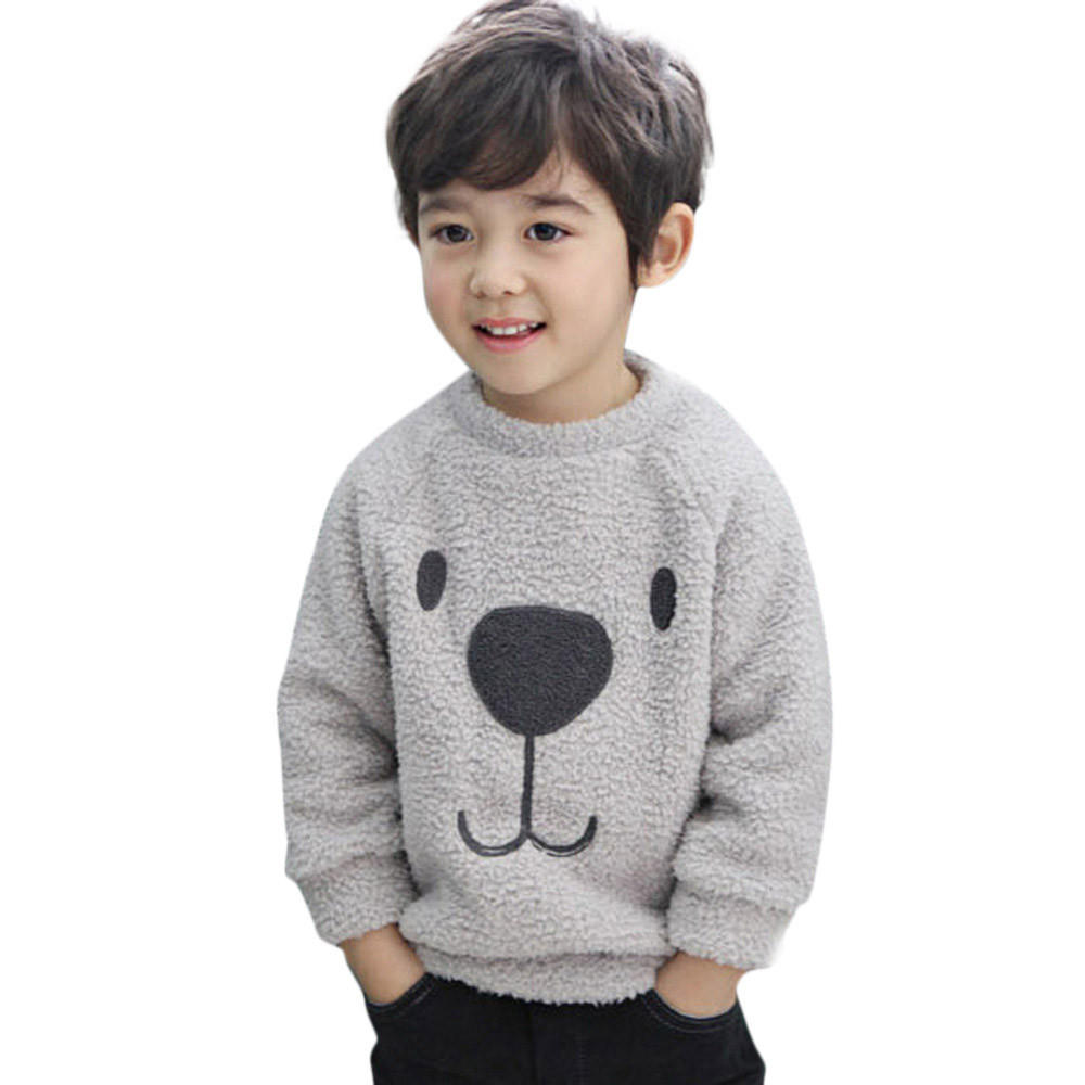 Newborn Infant Kids Boys Girls Sweater Solid Long Sleeve Warm Spring Fall Winter Pullover Tops Sweatshirt for 0-8 T