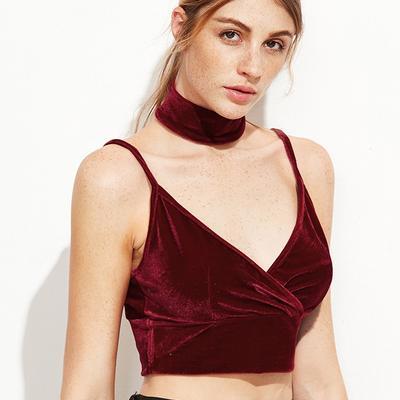 69e1638ddb4 Soft Velvet Suit Bralet Bralette Triangle Crop Top Bra Cami Modest Elegant  Ladies Underwear