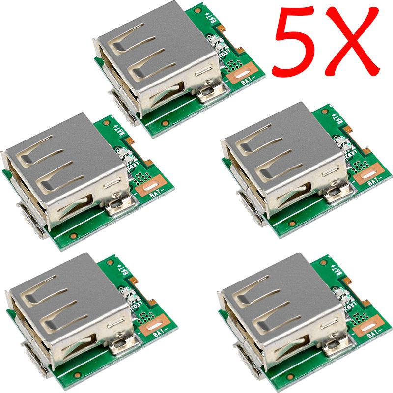 5PCS 5V Power Supply Модуль Литий батареи Зарядка Защита Борту Преобразователь светодиодный дисплей MICRO