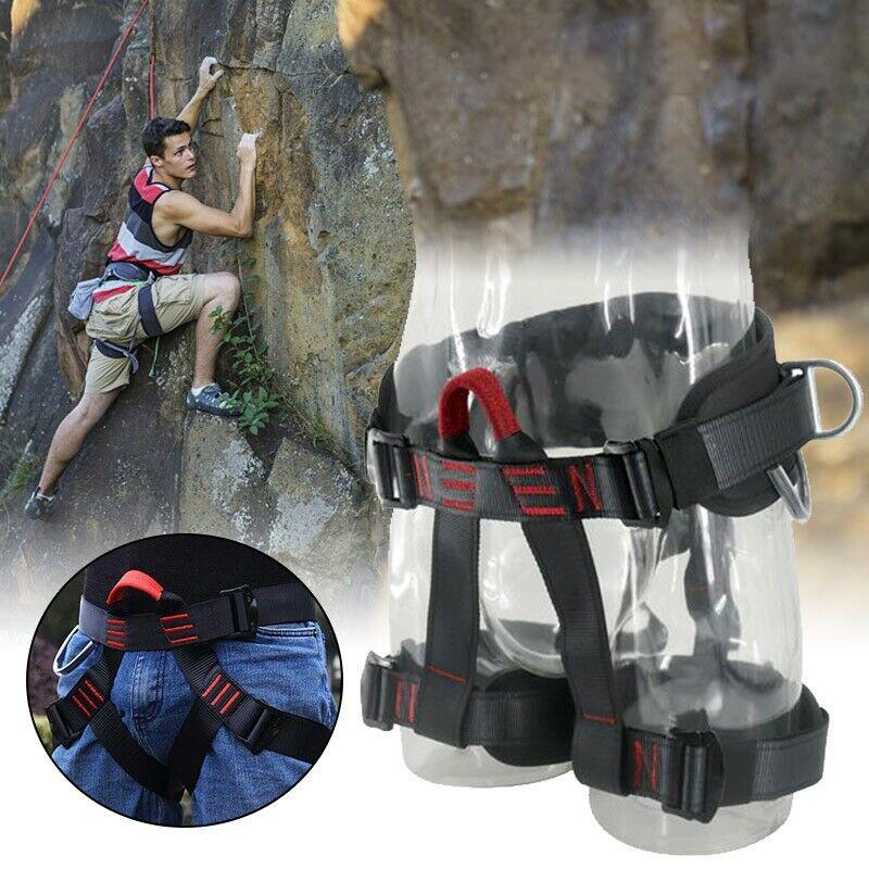 Outdoor Heavy Duty Tree Climbing Rappelling Belt Rigging Rock Harness Safety