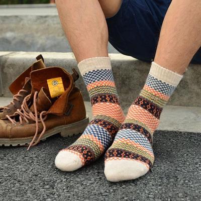 b29cd6d7052ad 1 Pair Winter Mens Warm Thick Wool Mixture ANGORA Cashmere Casual Socks