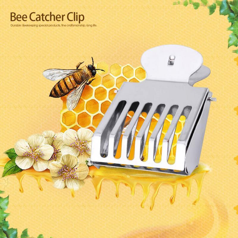 Metal Queen Cage Clip Bee Catcher Cage Beekeeper Beekeeping Catching Equipment