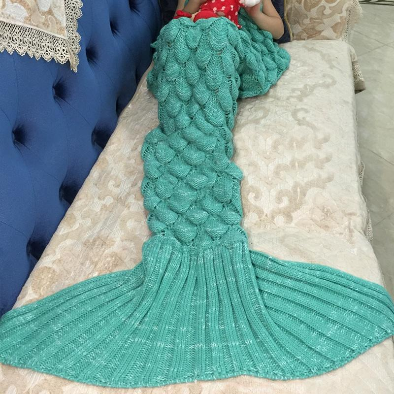 Manta de sofá de casa sirena cola lanza Super suave de Handmake de ...