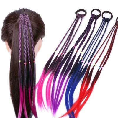 1PCS Hair Clip Wig Hair Rubber Band Twist Horsetail Hairbands Hair Rope Wig Hair Accessories Women