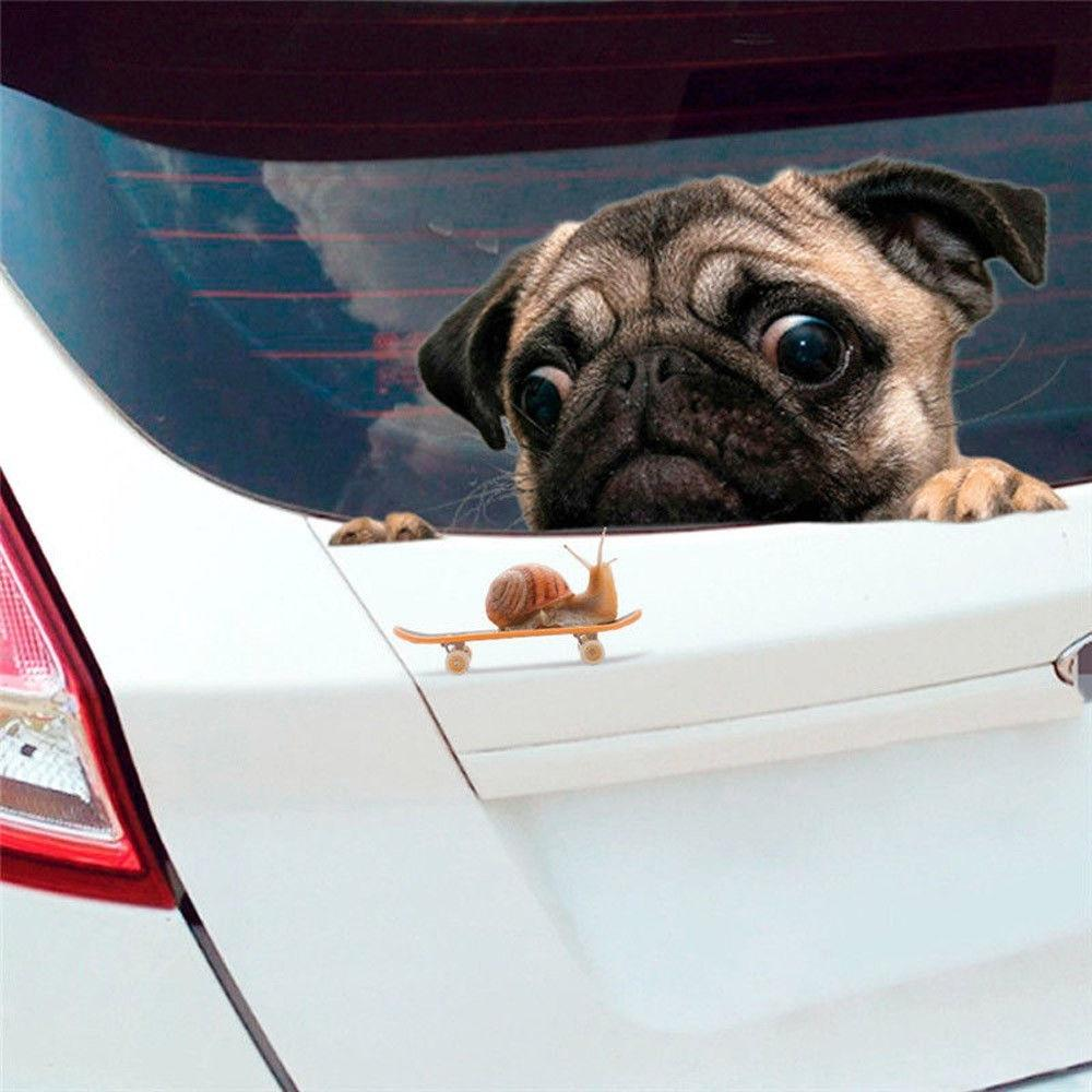 Pug Puppy Dog Sticker for Interior or Exterior Use Wall Van Car