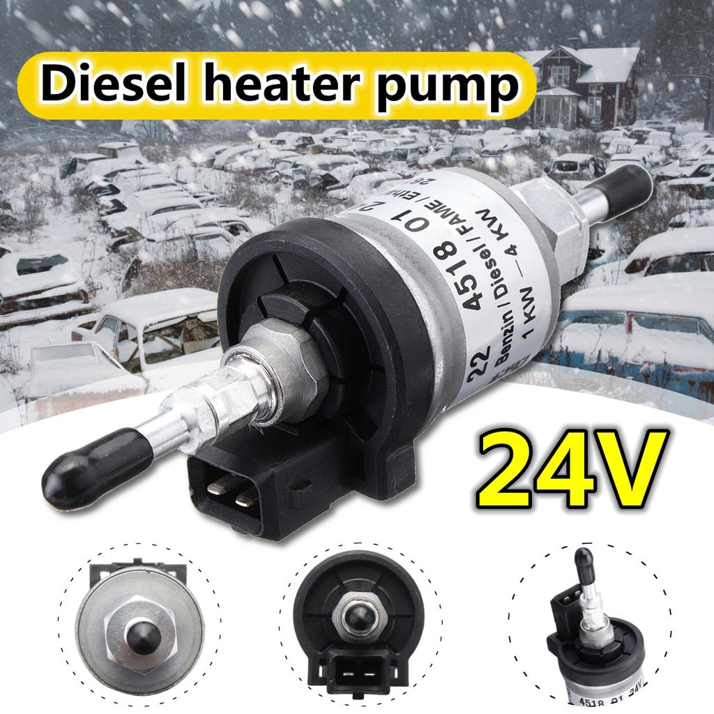 Fit For Webasto Heaters Electric Fuel Pump Durable Air Parking Heater Fuel Pump Heavy Duty Diesel Heater Pump Electronic Pulse Pump 12V// 24V Oil Fuel Pump Replacement