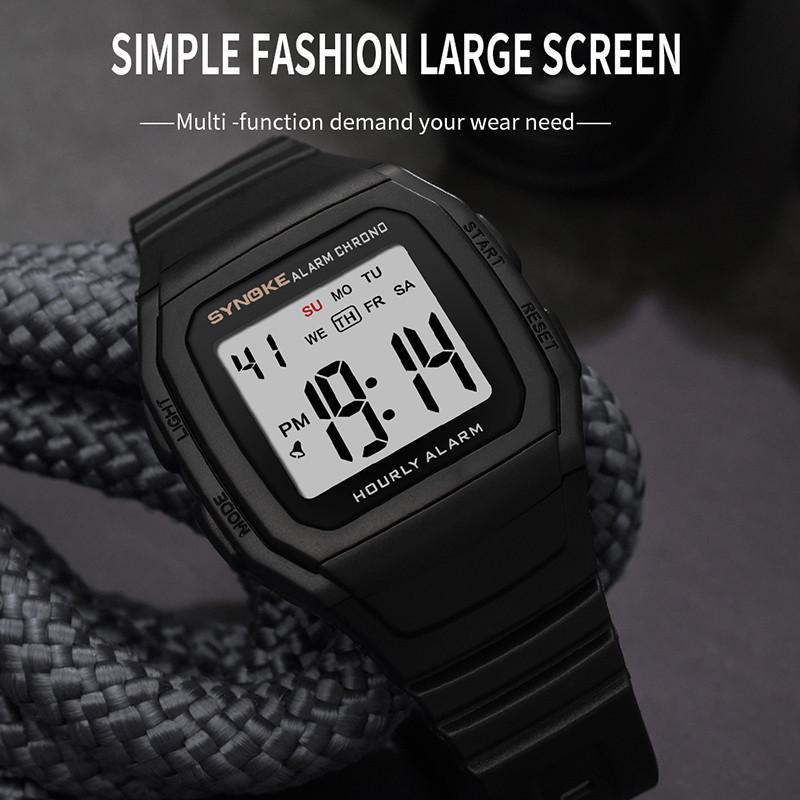 Мужские часы Relogio Masculino Multi Функциональные спортивные электронные часы Мужчины водонепроницаемые женщины площади бренда Luxury Band – купить по низким ценам в интернет-магазине Joom