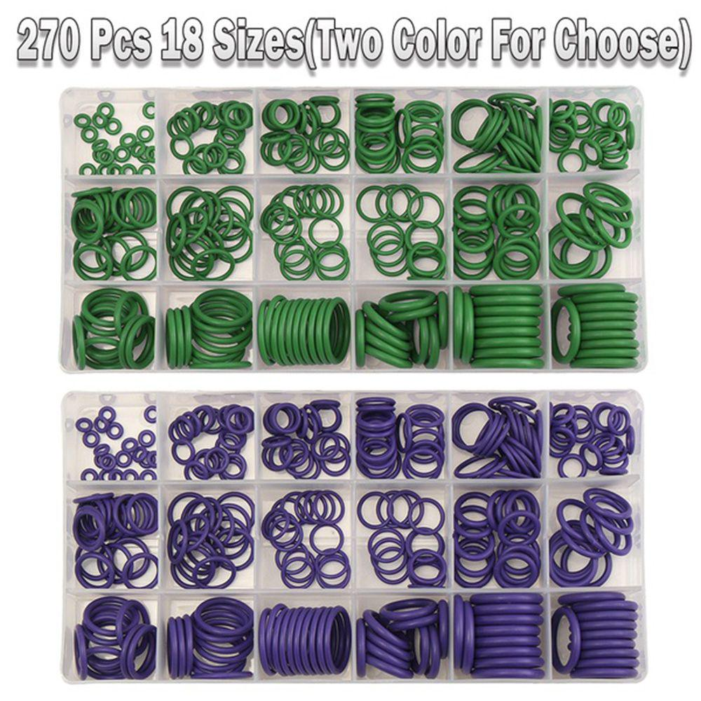 270 Pcs 18 Size A//C Air Conditioning HNBR O Rings Seals Assortment Kit Purple