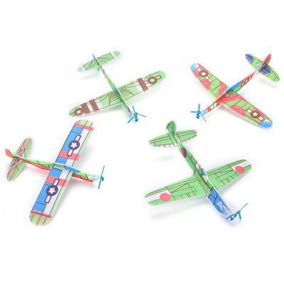 12pcs/conjunto de espuma Prop de planeador volando planeadores plano ...
