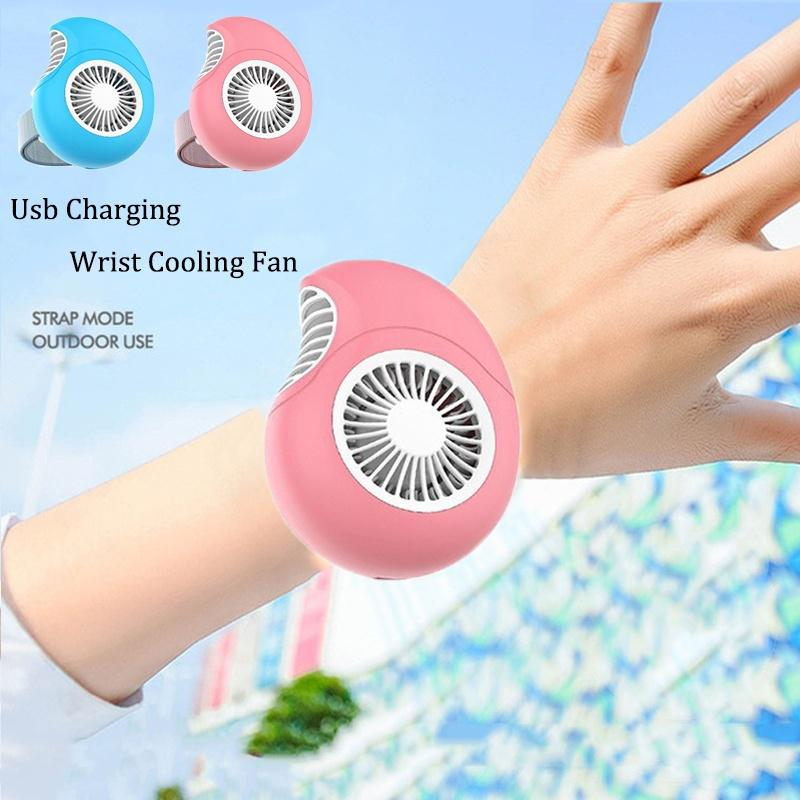 USB Fan Mini Fan With Turbo Blades Mute For Home Office Outdoor Travel Wrist Fan Electric Small Fan Portable Handheld Fan For Office Student Fan,Pink,A