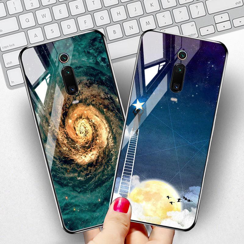 Закаленный стеклянный телефон Дело для Xiaomi Redmi K20 Xiaomi Mi 9T K20 Pro Mi9T Pro Обложка Окрашенные сумки фото