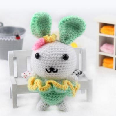 Green Rabbit Amigurumi Crochet Kit 15cm High DIY Crochet Knitting ... | 400x400
