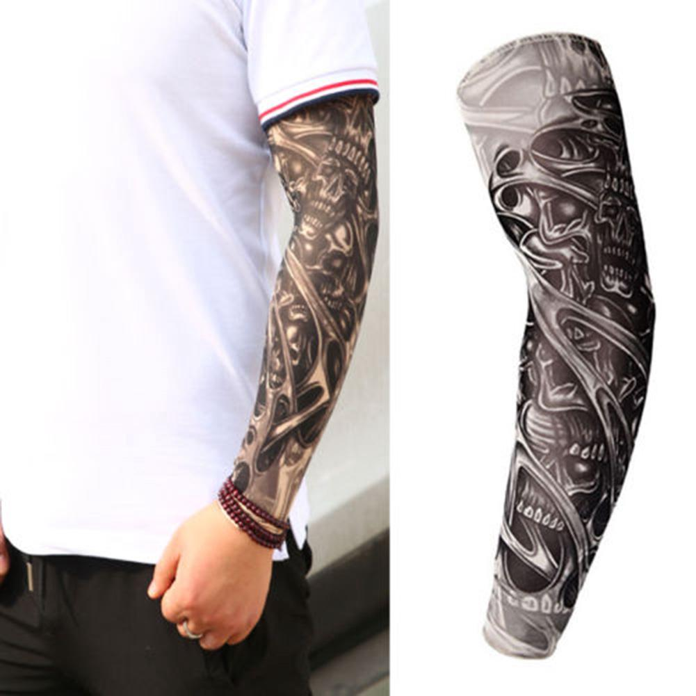 Outdoor Sports Arm Protective Sleeves Men Tattoo Arm Leg Sleeves Sun Protection Cycling Halloween Party Decoration Sale Price Men's Arm Warmers