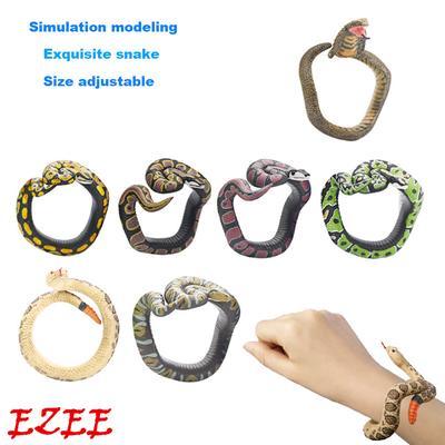 Simulation Resin Python Snake Wrist Bracelet Wristband Hand Halloween Prank Toys